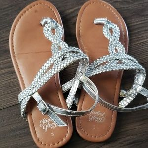 Other - Girls silver sandals